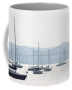 Sailboats And The Tappan Zee Bridge Coffee Mug