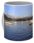 Sailboats At Anchor In Bowness On Windermere Coffee Mug
