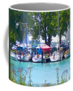 Sailboats In Dock Coffee Mug