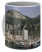 Sailboats Moored In Gibraltar Bay Coffee Mug by Lynn Abercrombie