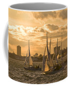 Sailboats On Lake Ontario At Sunset Coffee Mug