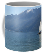 Sailing Boat And Mountain Coffee Mug