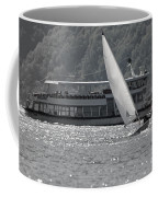 Sailing Boat And Passenger Boat Coffee Mug