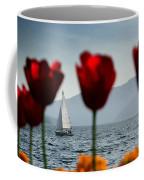 Sailing Boat And Tulip Coffee Mug