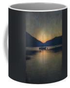 Sailing Boat At Night Coffee Mug