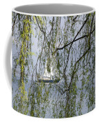 Sailing Boat Behind Tree Branches Coffee Mug