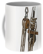 Sailing Boat Detail With Snow Coffee Mug
