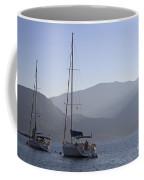Sailing Boats At Dawn In Karacaoren Bay Coffee Mug