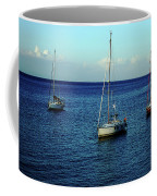 Sailing The Blue Waters Of Greece Coffee Mug