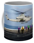 Sailors And Marines Watch An Ah-1z Coffee Mug