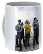 Sailors Fight A Simulated Fire Aboard Coffee Mug