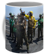 Sailors Fight A Simulated Fire Drill Coffee Mug