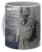 Sailors Fire A Mark 38 Machine Gun Coffee Mug