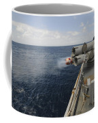 Sailors Observe A Mk-46 Recoverable Coffee Mug