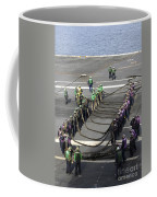 Sailors Participate In A Barricade Coffee Mug