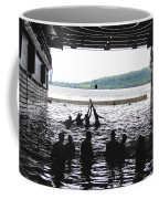 Sailors Play Football During A Swim Coffee Mug