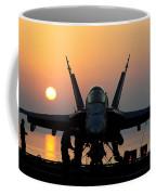 Sailors Prepare An Fa-18c Hornet Coffee Mug