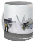 Sailors Prepare An Fa-18f Super Hornet Coffee Mug