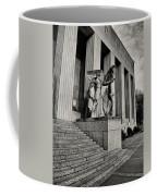 Saint Louis Soldiers Memorial Exterior Black And White Coffee Mug
