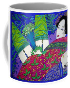 Samurai And Geisha Pillowing Coffee Mug
