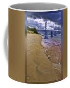 San Francisco Bay Bridge And Beach Coffee Mug
