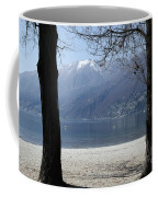 Sand Beach On An Alpine Lake Coffee Mug