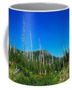Sand Blasted Trees  Coffee Mug