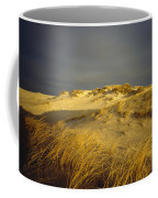 Sand Dunes And Beach Grass In Golden Coffee Mug by James P. Blair