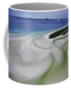 Sandbars Create An Interesting Pattern Coffee Mug