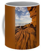 Sandstone Cliffs, Cavendish, Prince Coffee Mug