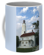 Sandy Hook Lighthouse And Building Coffee Mug