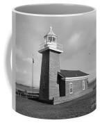 Santa Cruz Lighthouse - Black And White Coffee Mug