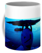 Santorini By Night Greece Coffee Mug