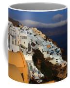 Santorini Cliff View Coffee Mug
