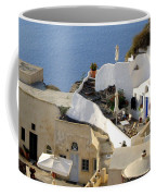 Santorini Terrace Coffee Mug