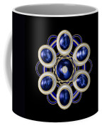 Sapphire And Gold Brooch Coffee Mug