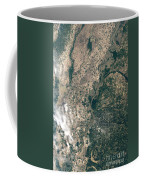 Satellite Image Of Flood Waters Coffee Mug