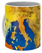 Satellite Image Of Italy Coffee Mug