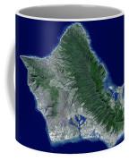 Satellite Image Of Oahu, Hawaii Coffee Mug