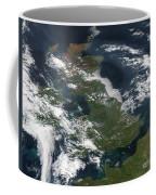 Satellite Image Of Smog Over The United Coffee Mug