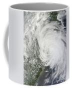 Satellite Image Of Tropical Storm Muifa Coffee Mug