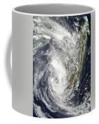 Satellite View Of Cyclone Giovanna Coffee Mug