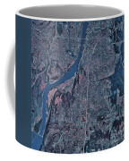 Satellite View Of Little Rock, Arkansas Coffee Mug