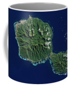 Satellite View Of Tahiti Coffee Mug