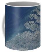 Satellite View Of The Belgium Coastline Coffee Mug