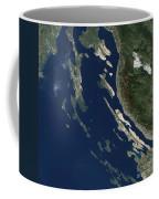 Satellite View Of The Croatian Islands Coffee Mug