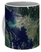 Satellite View Of The Frasier River Coffee Mug