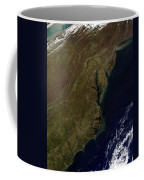 Satellite View Of The Mid-atlantic Coffee Mug