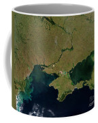 Satellite View Of The Ukraine Coast Coffee Mug by Stocktrek Images