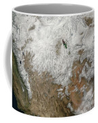 Satellite View Of The Western United Coffee Mug